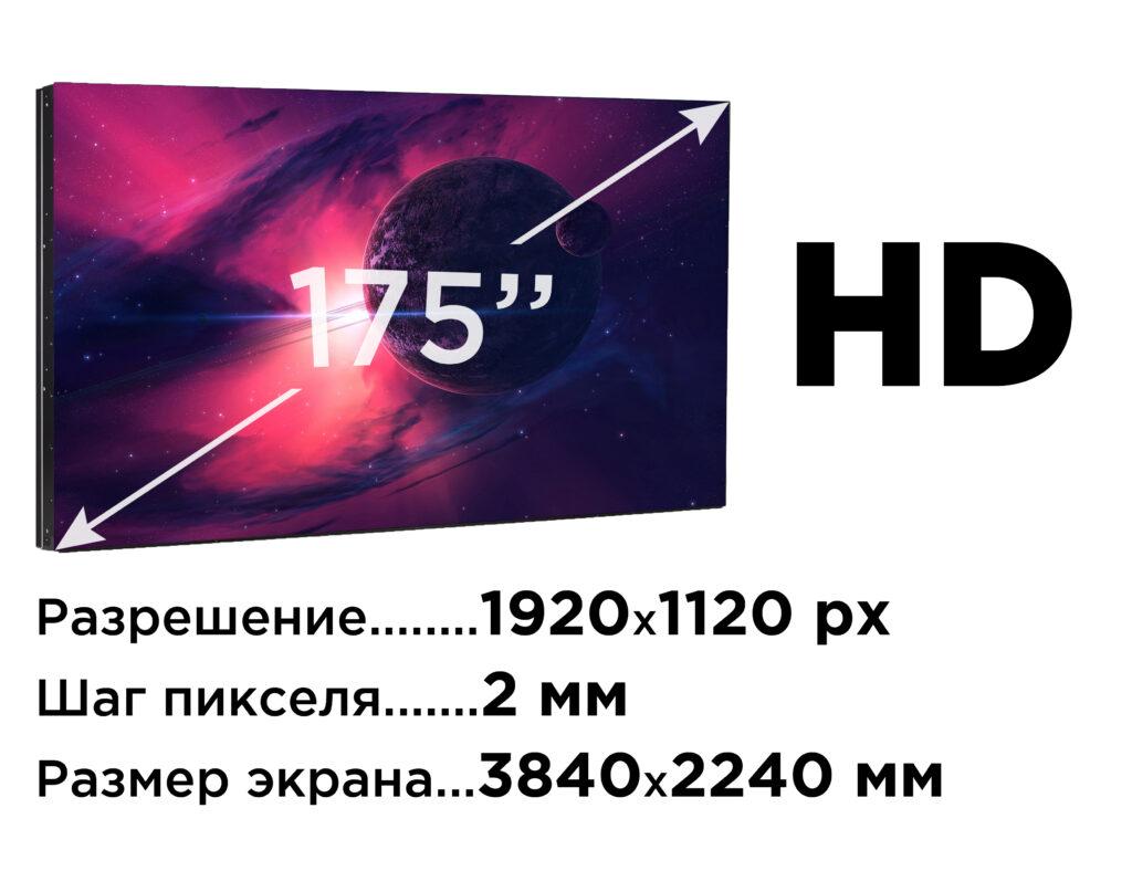 LED-ЭКРАН для домашнего кинотеатра 175